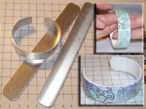 FIMO cuff armband